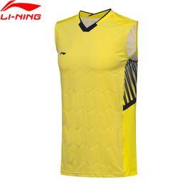 1822794c317094 (Black Friday Clearance) Men Badminton Vest AT DRY Slim Fit LiNing  Breathable Sleeveless T-Shirts AVSN029 MBJ117