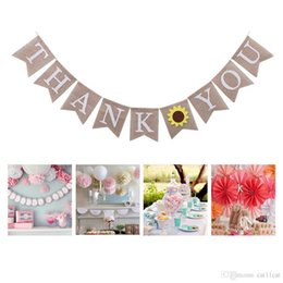 thanksgiving party decoration Australia - Thanksgiving Decorations Thank You Sunflower Bunting Birthday Party Decoration Banner Ornaments