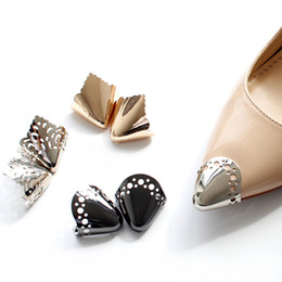 Shoes Repair Australia - 3 Colors Shoes Toe Protection Metal Material Shoes Clips for Decorations High Heels Shoe Broken Repair Accessories