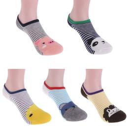 Cute Cartoon Pairs Australia - 5 Pairs 1 Sets Kids Cute Cartoon Stripe Socks Toddler Baby Soft Cotton Socks