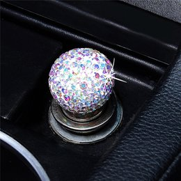 Wholesale nice cars for sale – custom For Universal Personal Auto Vehicle Metal Rhine stone Car Plug Smoke Heater Nice and unique design with clear luxury rhine BA