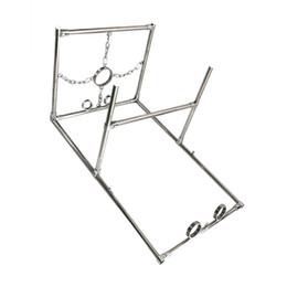 $enCountryForm.capitalKeyWord UK - Large Binding Shelf Handcuffs Anklecuffs Collar Stainless Steel Full Adjustment K9 Bondage Frame Heavy Metal Bondage Gear BDSM Devices