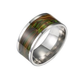Mexican Abalone Shells Australia - Stainless Steel Shell Ring Abalone Shell Rings Band Ring Engagement Wedding Rings for Men Women Fashion Jewelry will and Sandy Drop Ship