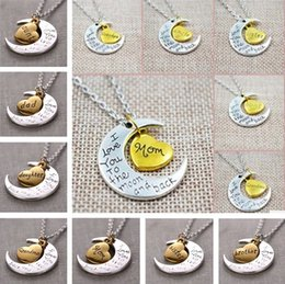 $enCountryForm.capitalKeyWord Australia - New 12 Styles I Love You To The Moon and Back Necklace 20pcs lot Lobster Clasp Hot Pendant Necklaces C0232