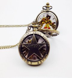 $enCountryForm.capitalKeyWord Australia - Pocket Watch Japanese Saint Seiya Fob Chain Quartz Japan Cartoon Comics Male Flip Case Clock Mens Watch Mens reloj de bolsillo