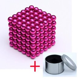 funny blocks Australia - Wholesale Super Magnet Blocks 3mm Magnetic balls Ndfeb Strong Power Magnets Neo Cube Funny Puzzle Toys Metal box Package Toys Kids