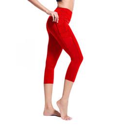 $enCountryForm.capitalKeyWord Australia - leggings Women's Side Pocket Stitching Tight Running Stretch Seven-point Yoga Pants athletic erings fanatic excercise grail#5