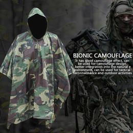$enCountryForm.capitalKeyWord Australia - 3 in 1 Rain Poncho Waterproof Camouflage Rain Coat Outdoor Camo Shelter Gear For Camping Fishing 3 Type