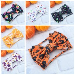 hair designs headband Australia - 2019 new baby halloween holidays hair accessories children wide headband with big bow 35 designs offer choose