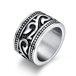 $enCountryForm.capitalKeyWord UK - Vintage Men Rings Engraved Dragon Stainless Steel Male Rock Jewelry Party Gift US size 7 8 9 10 11 12