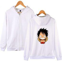 $enCountryForm.capitalKeyWord Australia - Anime One Piece Hoody Zipper Sweatshirt Funny Cartoon Anime Multicolor Hooded Zipper hoodies Men Women Fashion Sweatshirt Clothe