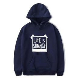 Wholesale life games for sale - Group buy Game Life is Strange Hoodie Sweatshirt With Hat Men Women Whatif Print Funny Winter Life is Strange Caulfield Pullover DHTopClothes
