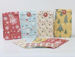 $enCountryForm.capitalKeyWord Australia - Christmas Paper Gift Bag Snowman Snowflake Christmas Tree Food Packing Bag Party Favor Stand Bags WB406