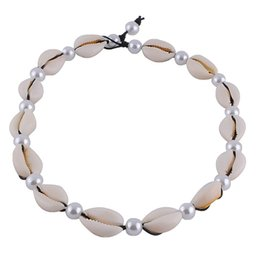 $enCountryForm.capitalKeyWord Australia - New Natural Sea Shell Beach Necklace For Women Rope Chain Choker Seashell Conch Necklace Summer Collier 2019