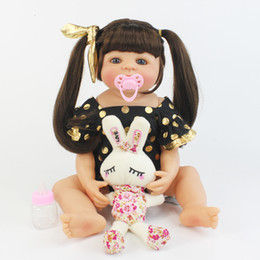 full house toys UK - 55cm Full Silicone Reborn Baby Doll Toy Like Real Vinyl Newborn Alive Bebe Babies Doll Girl Brinquedos Play House Bathe Toy CJ191212