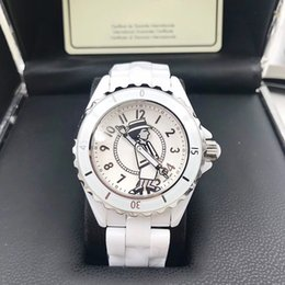 Discount analog watches date - Hot Selling Brand Lady White Black Ceramic Sapphire Glass Mirror Watches High Quality Quartz Fashion Exquisite Women Wat