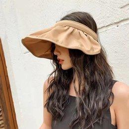 Wholesale Hat lady Korea east gate shell cap sun shade hat folding