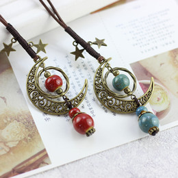 Boho style jewelry online shopping - Long Necklace Handmade Women Accessories Colorful Vintage Ethnic Necklaces Punk Style Fashion Jewelry Boho Bohemian Necklace