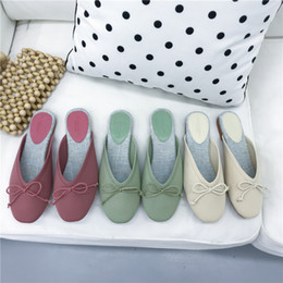 t m clothing Australia - Mini2019 Flat Baotou Children Tidal Shoes Half Dawdler One Pedal Cool Slipper Woman Other Clothes