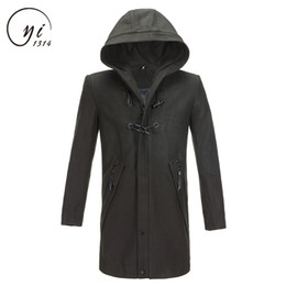 $enCountryForm.capitalKeyWord Australia - Casual Design Jackets Coat For Men Abrigo Largo Hombre Fashion Men Hooded Long Wool Blends Suit Design Wool Coat Manteau Homme