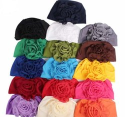 $enCountryForm.capitalKeyWord Australia - New 16colors side Big flowers woman hats Bamboo fiber elastic head cap Ladies elegant fashion hats Chemotherapy cap