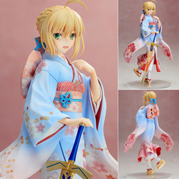 Fate Stay Night Saber Figure Australia - Anime Kimono Aniplex Fate stay night Saber Beautiful Statue Girls Figure Toys