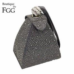 $enCountryForm.capitalKeyWord Australia - Vintage Diamond Bridal Wedding Purse Mini Gray Pyramid Party Handbags Women Bag Wristlets Clutches Crystal Evening Clutch Bags Y19051702