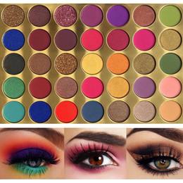 Glitter eyeshadow palette powder online shopping - 35 Bright Colorful Matte Eyeshadow Palette Shimmery Silky Powder Long Lasting Pigments Pressed Glitter Eye Shadow Pallete Makeup