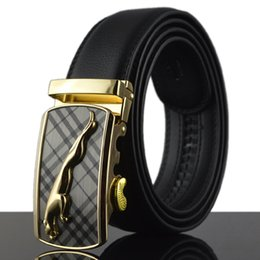 dark grey jeans for men NZ - men leather strap male automatic buckle belts for men authentic girdle trend men's belts ceinture Fashion designer jean belt 3.5