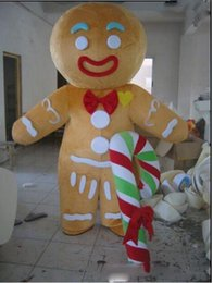 $enCountryForm.capitalKeyWord Australia - real product pictures Hot sales gingerbread man Mascot Costume Adult Size! EMS free shipping