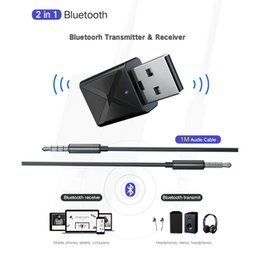 $enCountryForm.capitalKeyWord Australia - 5.0 Bluetooth Transmitter Receiver Mini 3.5mm AUX Stereo Wireless Bluetooth Adapter for Car Audio Bluetooth Transmitter for TV