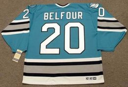 $enCountryForm.capitalKeyWord Australia - Men Women Youth ED BELFOUR San Jose Sharks 1997 CCM Vintage Hockey Jersey All Stitched Top-quality Any Name Any Number Goalie Cut