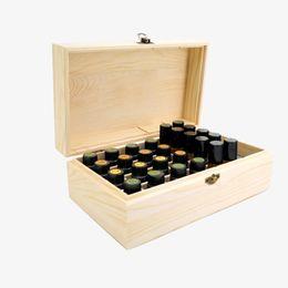 Shoes Oil Australia - Wooden Storage Box doTERRA Simple 18 Slots Essential Oil Bottle Storage Box Wooden Aromatherapy Organizer Case Home