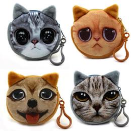 $enCountryForm.capitalKeyWord NZ - 200pcs lot HOT Cheap Little 8CM Mini Coin Bag cartoon Cat Key Hook Plush Coin BAG Pouch Dog Purse Wallet Holder