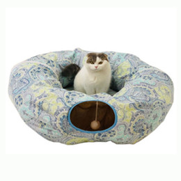Wholesale Funny Pet Cat Tunnel Toys Channel Rolling Nest Tubes Collapsible Crinkle Kitten Toys Puppy Ferrets Rabbit Play Dog Tunnel Tubes