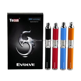 $enCountryForm.capitalKeyWord Australia - 00% Authentic Yocan Evolve Starter Kit 650mah Quartz Dual Coils Wax vaporizer Pen Kit 5 Colors Vape Pens Ecig Kits DHL Free