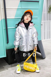 $enCountryForm.capitalKeyWord Australia - 2019 New Autumn Winter Baby Kids Clothing 90%White Duck Down Coats Unisex Hooded Zipper Striped patchwork Letter Outwear Casual Coat CLY055