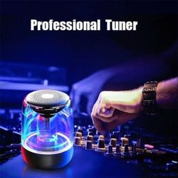 True Wireless Stereo Bluetooth Speaker LED cor mudando luz de noite de cristal em Promoção