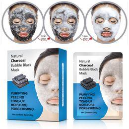 $enCountryForm.capitalKeyWord Australia - Natural Detox Oxygen Charcoal Bubble Black Sheet Mask Oil Control Face Mask Blackhead Removal Facial Mask Korean Skin Care