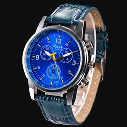 $enCountryForm.capitalKeyWord Australia - 1Novel Design New Man Fashion Crocodile Faux Leather Mens Analog Watch Relojes Hombre Blue Pu Leather Watches Dropshipping