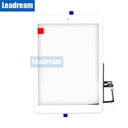9.7 digitizer UK - 20PCS For iPad 9.7 2018 Version A1893 A1954 Touch Screen Digitizer Front Outer Panel Glass Black White 9.7 inch with Buttons Free DHL
