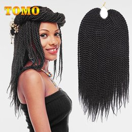 ombre braiding hair 16 inches UK - Ombre Braiding Hair Extensions Senegalese Twist Pure  Mix Black Burgundy Crochet Braids Synthetic Braided Hair For Black Woman 30strands  Pa
