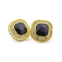 866a7b553 Mens Earring Black Studs Australia - Mens Hip Hop Stud Earrings Jewelry  High Quality Fashion Gold
