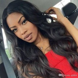 $enCountryForm.capitalKeyWord Australia - Lace Front Wigs Real Hair Long Black Color Body Wave Virgin Peruvian Glueless Full Lace Human Hair Wig Pre Plucked For Black Women