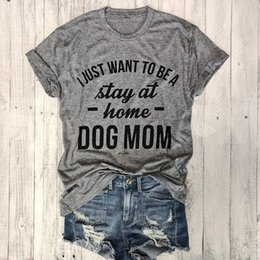Graphic Tees Women Australia - Tumble Tops Love Dogs 90s Shirts DOG MOM Hipster T-Shirt Women Graphic Slogan Tee Gray Clothing