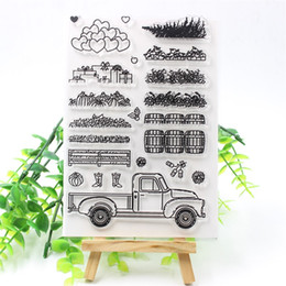 make stamps NZ - crapbooking Stamping Stamps KSCRAFT Truck Transparent Clear Silicone Stamps for DIY Scrapbooking Card Making Kids Crafts Fun Decoration S...