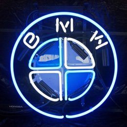 Custom bmw Cars online shopping - BMW Car LED Neon Sign Light Custom Outdoor Bar Club Display Entertainment Decoration Glass Neon Lamp Light Metal Frame