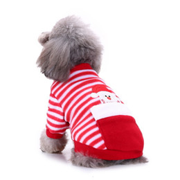 elk clothes Australia - Christmas Dogs Clothing Jumpsuit Santa Claus Pet Costume Dog Apparel Fashion Clothing Elk Clothing Small Dogs Dog Clothes Chihuahua