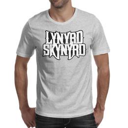 Vintage Band T Shirts Australia - Men's t-shirt Lynyrd Skynyrd rock band Vintage old Short Sleeve t-shirt Cotton Casual Fashion Shirt
