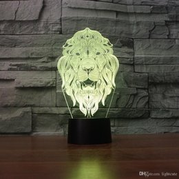 plastic lions NZ - The Lion King 3D Illusion Night Light Touch 7 Color Change Home Decor Baby Girl Boy LED Lamp Kids Gift Christmas Xmas Gifts